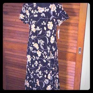 Rafaella black silk dress
